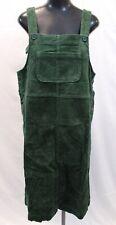 Monki Women's Cord Dungaree Dress SV3 Dark Green Medium NWT