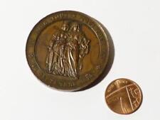 Antico 1864 50th ANNIVERSARIO DELLA RIUNIONE DI GINEVRA & SVIZZERA MEDAGLIA DI BRONZO #M5
