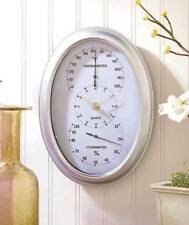 3 in 1 Hanging Wall Clock Hygrometer Thermometer Battery Operated Time Home NEW
