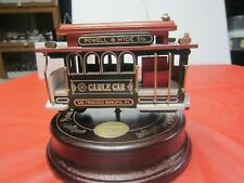 1991=Wood Metal Plastic=Cable Car=San Francisco Rotating Music Box=Collectible=