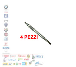 KIT 4 PEZZI CANDELETTE FIAT PUNTO 188 1.3 MULTIJET FIAT 062900029304