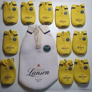 LOT 12 Lanson Black Label CHAMPAGNE WIMBLEDON Tennis Bottle Shirt Cover Cooler