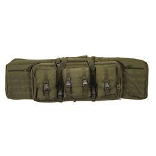 "42"" Tactical Molle Bag Double Gun Rifle Case Padded Green Foam Divider CA-343G2"