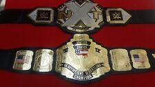 WWE NXT AND WCW US HEAVYWEIGHT WRESTLING CHAMPIONSHIP REPLICA BELT