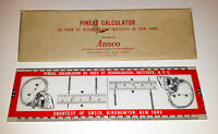 Ansco Pineal Calculator Slide Rule Medical Oddity Neurological Brain VTG RARE