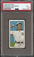 Rare 1909-11 T206 Germany Schaefer Old Mill Washington PSA 3.5 VG +