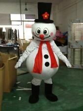 Snowman Mascot Costume Cartoon Cosplay Halloween Party Adult Dress Outfit Gifts