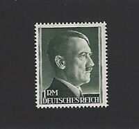 MNH  1940s Adolph Hitler postage stamp / 1RM / Third Reich / WWII Germany