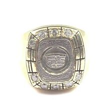 10k Two Tone Gold Men's Diamond Cadillac Symbol Ring