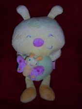 Doudou KMB Kimbaloo Peluche Musicale Coccinelle  Rose, Jaune Vert TBE