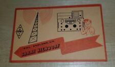 Vintage QSL card SWL England UK Barry Niendorf Wellesbourne Warwick ISWL radio