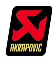 Nuevo AKRAPOVIC Adhesivo Resistente al Calor de Escape Silenciador Calcomanía Aprox 80x60mm Racing