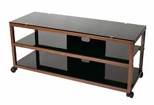 TransDeco LCD LED TV Stand Cart w/ casters 40 42 46 48 50 55 inch TV TD585DB NEW