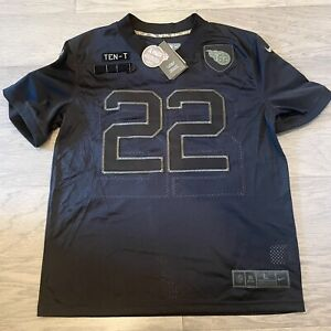 Nike Derrick Henry Tennessee Titans Salute to Service Black On Field Jersey, NWT
