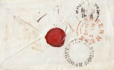 KENT: 1843 SHEERNESS circular dated double arc in red on cover to Worcester
