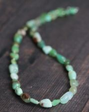 """CHRYSOPRASE  NUGGET NECKLACE  ~ 925 STERLING SILVER 18"""" IN LENGTH"""