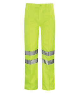 Hi Vis Hi Visibility Classic Work Trouser - Hi Viz Yellow - PCENT