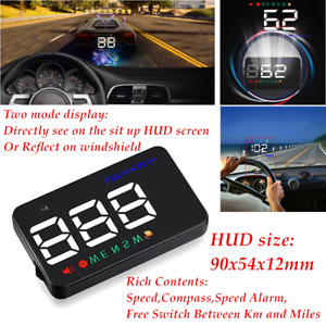 90x54x12mm A5 Auto GPS HUD Car Alarm Detector Real Time Speedometer DC8-18V Suit