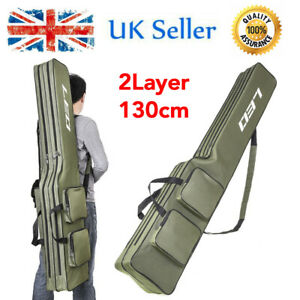 Lixada Double Layer Fishing Rod Bag Large Capacity Fishing Rod Tackle 130cm L4F7