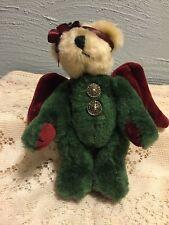 Boyds Green Bear Angel Ornament Arinna Goodnight No Tag