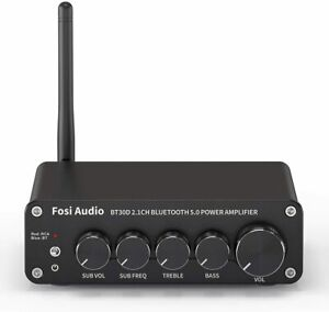 Fosi Audio BT30D Mini Bluetooth Audio Receiver Amplifier 2.1 Channel 50W x2+100W