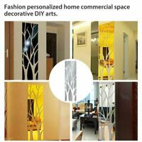 3D Tree Mirror Wall Sticker Removable DIY Art Decal Home Decor Mural Acrylic Red