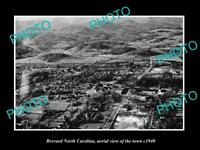 OLD LARGE HISTORIC PHOTO OF BREVARD NORTH CAROLINA AERIAL VIEW OF THE TOWN c1940