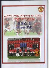 2009/10 FC Séoul V Manchester United Press Kit programme Comme neuf