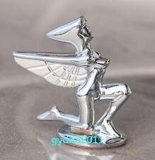 3D Car Chrome Zinc alloy Hood Ornament Badge Emblem Freedom Lady