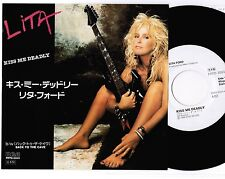 "LITA FORD-RUNAWAYS Kiss Me Deadly Back To JAPAN PROMO-ONLY 7"" RECORD PRTD-3003"