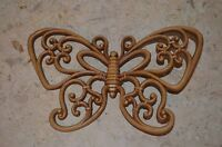 """Vintage 1978 USA Dart Homco Wall Plaque 7551 Butterfly Insect cut out 9"""""""