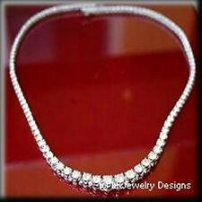 7.80 Ct Moissanite Round Forever One Ghi French Riviera Tennis Necklace
