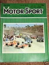 Motor Sport 5/79  -US GP WEST -RACE of CHAMPIONS - F2 & ENDURANCE RACING REVIEWS