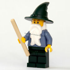 LEGO Castle Sand Blue & Green Wizard minifigure from 9349 (NEW) CAS483