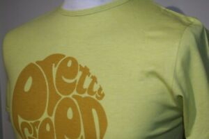 Pretty Green Big Logo Print Crew Neck T-Shirt - XS/S - Bright Yellow- Casual Top