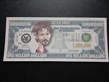 Johnny Depp $1 million Dollar Note Nouveauté Bill $1,000,000 Pirates of Caribbean