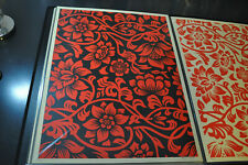 Shepard Fairey - Floral Takeover - Red & Black - Obey Giant - S/N 2017