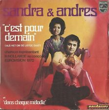 "Sandra & Andres ""C'est pour demain"" Netherlands Eurovision 1972 RARE"