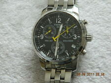 Men's Tissot PRC200 T461 Chronograph Quartz Watch Stainless Steel Swiss Made
