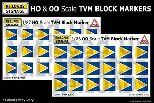 TVM BLOCK MARKERS HO & OO Scale for Eurostar, TGV, ICE & Thalys LGV / HST Lines