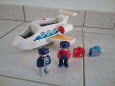 Playmobil 123 : avion de ligne et 2 personnages avec 2 valises