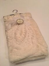 Kyle And & Deena Baby Girl Boy Ivory Elegant Blanket Faux Fur Sherpa Paisley