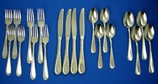 20 Piece Lot Oneida Flight Reliance Glossy Service 4 Knife Fork Spoon Stainless