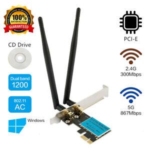 1200Mbps PCI-E Wireless Wifi WLAN Karte Express 2*Band 2.4G/5.0G für Desktop PC