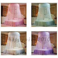 Round Dome Mesh Lace Mosquito Net Bed Canopy Bedding Netting Princess Polyester