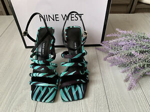Nine West Laxian Strappy Sandals Floral print Fabric Multicolor Size 6