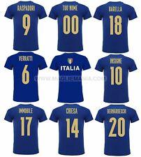 T-Shirt Maglietta ITALIA AZZURRI EUROPEI EURO 2021 Bambino Adulto Personalizzata