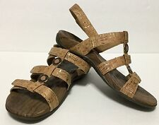 Orthaheel Orthopedic Sandals Size 7 Yasmin II Tan Cork