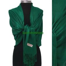 NEW Women Solid 100%Pashmina Wrap Stole Cashmere Shawl/Scarf Soft See green