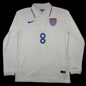 Nike Men's Medium White US Soccer Clint Dempsey 2014 World Cup Jersey